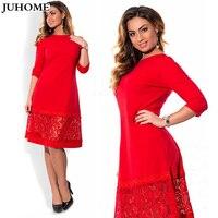 Plus Size Dresses Women 4xl 5xl 6xl Big Size Long Sleeve Autumn A Line Elegant Robe