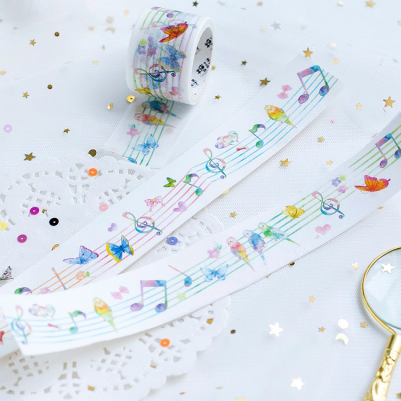 3cm X 5m Forest concert Beautiful washi tape album Scrapbook Adhesive decor paper tape diy Handmade Gift Card Art craft sticker