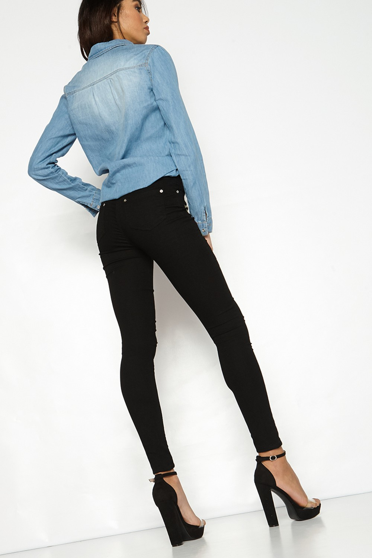 HTB1r2u9RVXXXXXPXXXXq6xXFXXX2 - FREE SHIPPING 3 Colors Women Flower Embroidery Hole Jeans High Waist Pencil Pants Skinny Denim Trousers JKP295