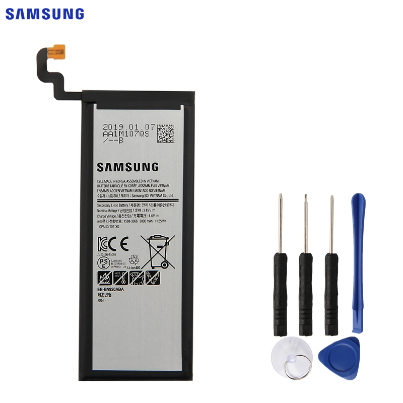 SAMSUNG Original Replacement Battery EB-BN920ABE For Samsung GALAXY Note 5 N9200 N920t Note5 Authentic Phone Battery 3000mAh