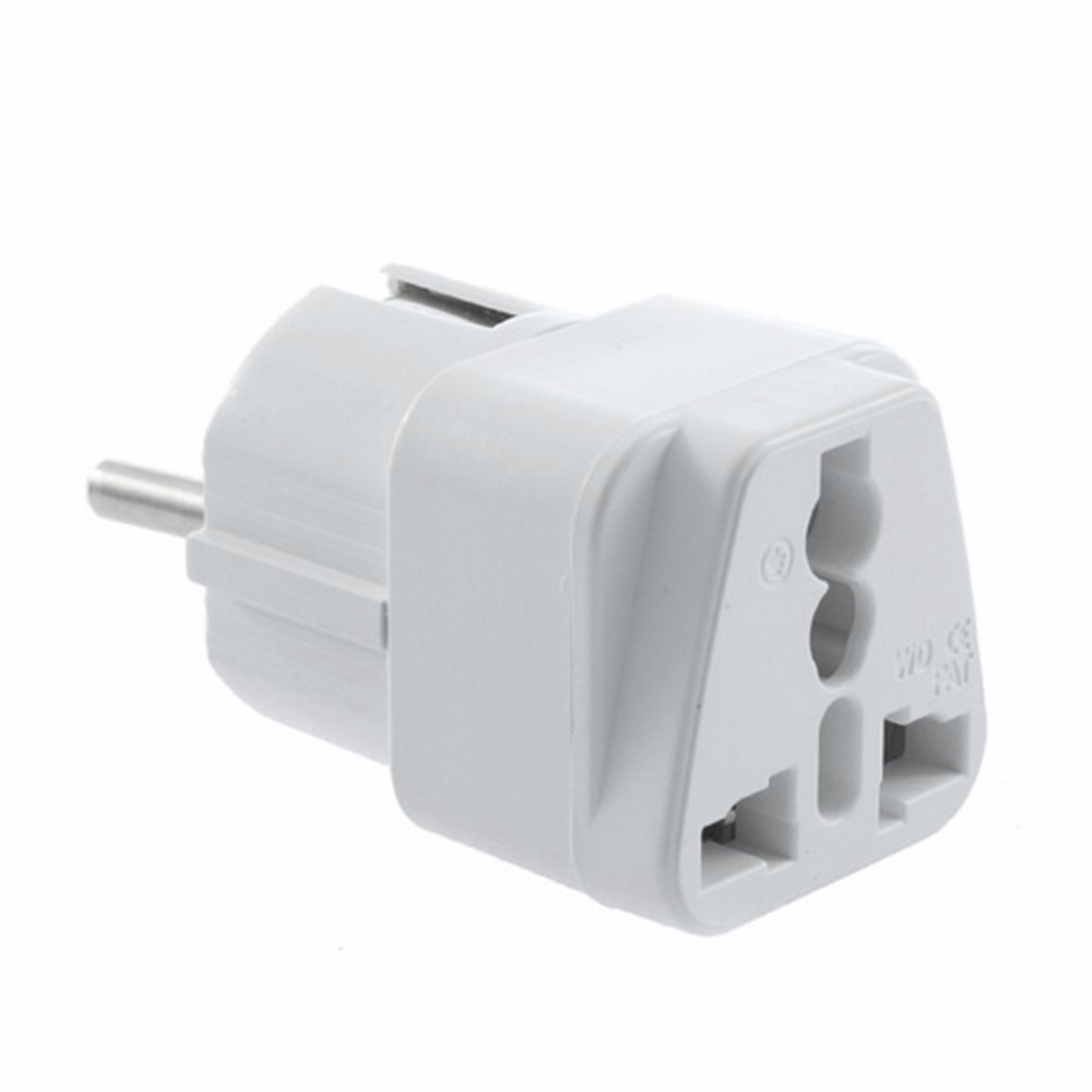 1pc Universal Travel Adapter US AU UK To EU Plug Travel Wall AC Power Adapter 250V 10A Socket Converter White C1 Hot New