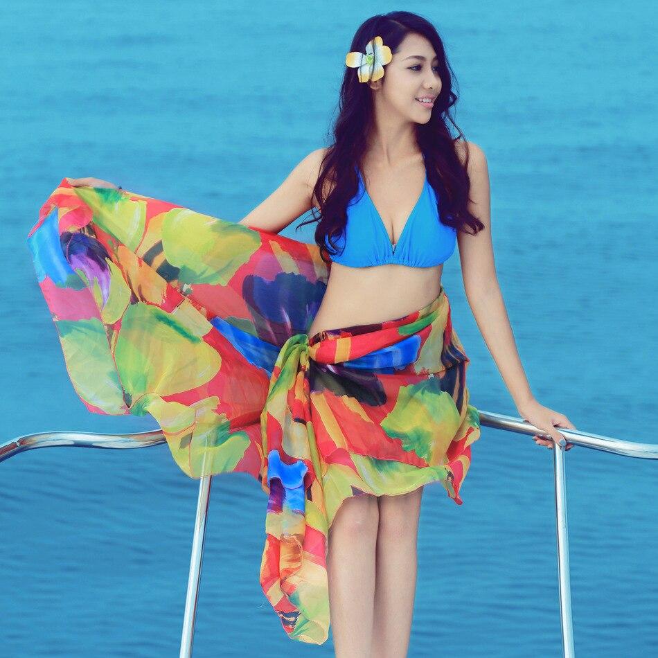 5 Color Women Beach Shawl Multifunction Summer Beach Dress Women ...