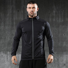 Autumn Men Runnig Jacket Windproof Cycling Casual Sport Coat Hiking Gym Camping Clothes Outdoor