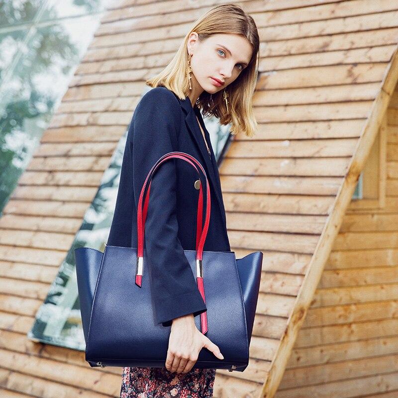 Women Handbags 2019 Genuine Leather Woman Shoulder Messenger Bags Large Shopper Bag Ladies Women Bag Bucket