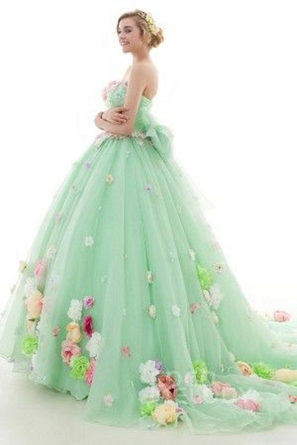 13dc428d8392a0 Top Designed Green Ball Gown Quinceanera Dresses for Girl Sleeveless  Appliques & Flowers Prom Party Dresses Lace Up Back Vestido