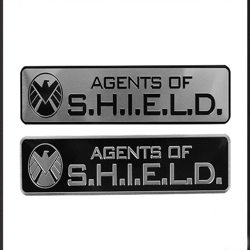 Three dimensional aluminum alloy aegis bureau special agent sticker Avenger auto body side sticker