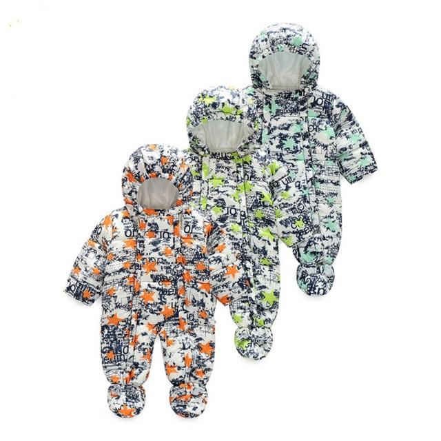 2016 Nuevo Otoño y El Invierno del bebé Infantiles Ropa de Escalada Mono Acolchado Grueso Camuflaje Con Capucha de Los Mamelucos Del Bebé Ropa de Bebé