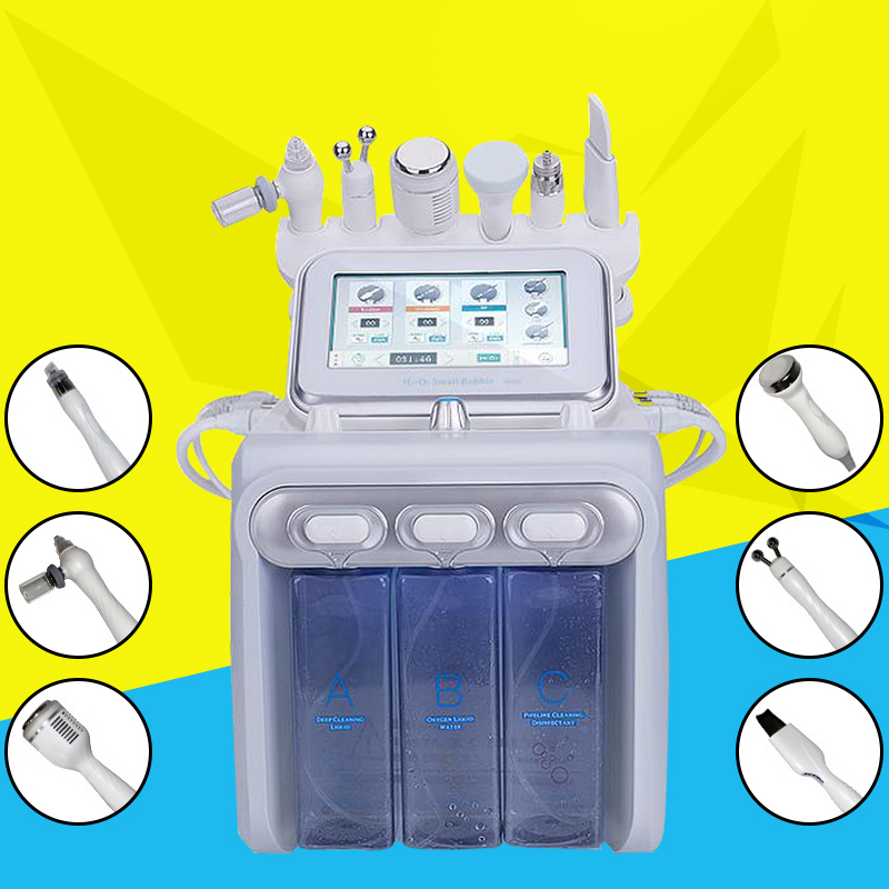 6 In1 Hydra Facial Water Dermabrasion Oxygen Spray With RF Bio Lifting Spa Facial Machine/Hydro