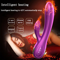 Intelligent heated usb vibrator g spot stimulaotr silicone magic wand massager sex toys masturbator for women clitoris vibrators