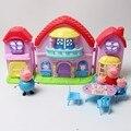 Свинья игрушки пвх семейный дом вилла Juguetes звуком и свинья игрушка фигурки на день рождения ну вечеринку детские малыш подарок на день рождения