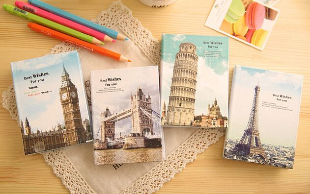Creative places of historic interest Hard Note book post it Memo Pad Sticky Notes office school supply