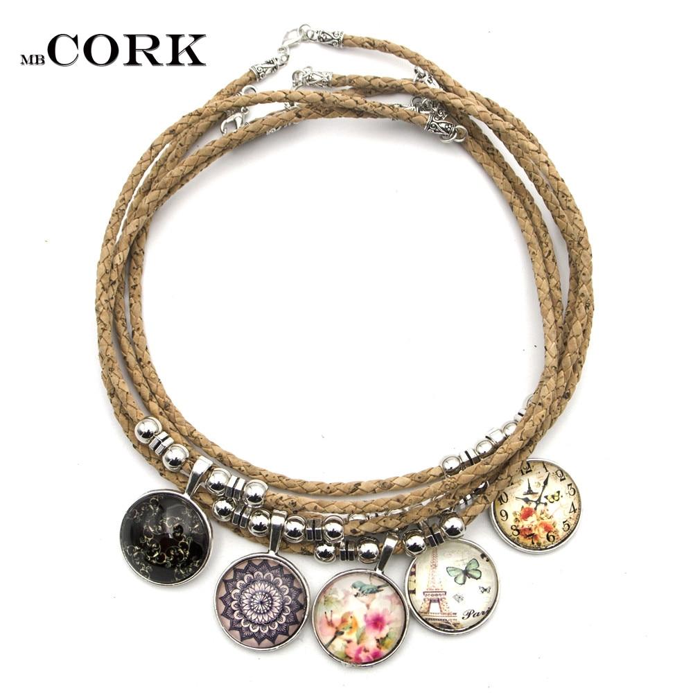 Cork Jewelry: Aliexpress.com : Buy Natural Cork With Round Glass Patch
