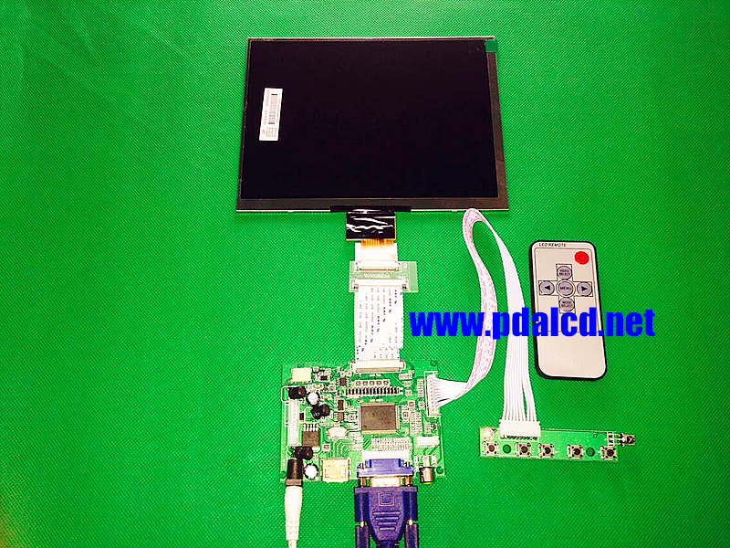 HDMI/VGA/AV Control Driver Board + 8inch HL080IA-01E 1024*768 IPS high-definition LCD Display For Raspberry Pi
