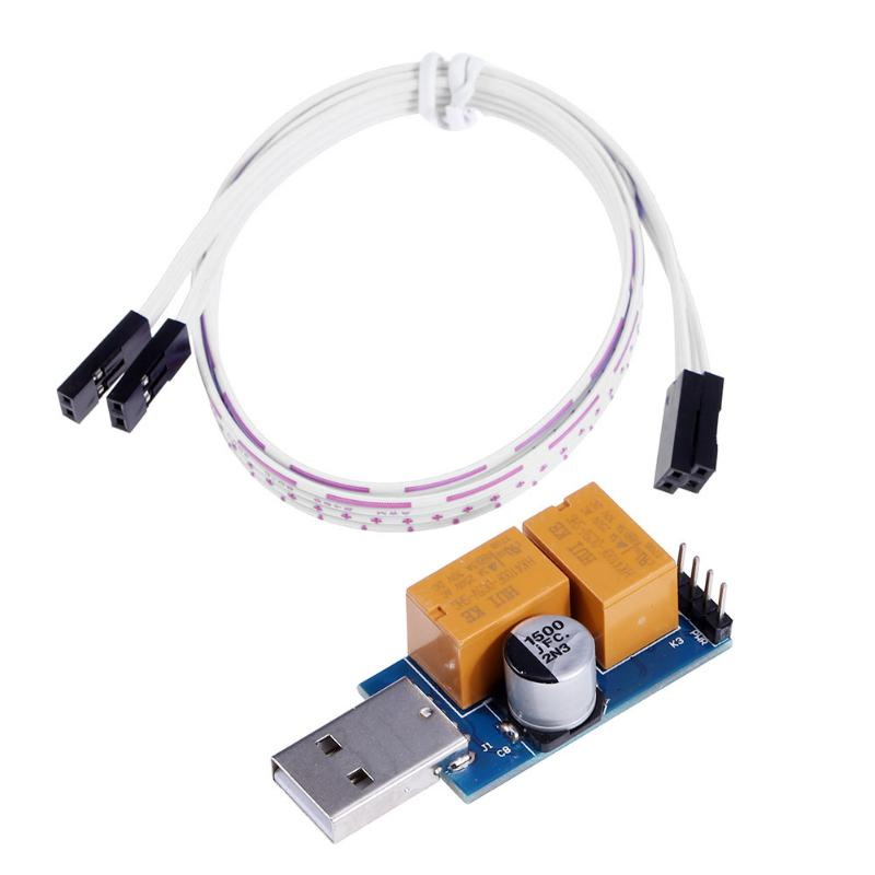 USB WatchDog Card Double Relay 24H Blue Screen Unattended Automatic Restart For 24H PC Server Computer Gaming Mining Miner 60 24h