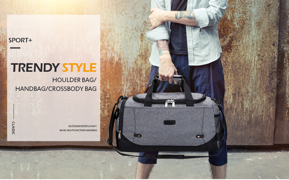Gym Bags Sports Bags Humorous Hot Canvas Sport Bag Training Gym Bag Men Woman Fitness Bags Durable Multifunction Handbag Outdoor Sporting Tote For Male