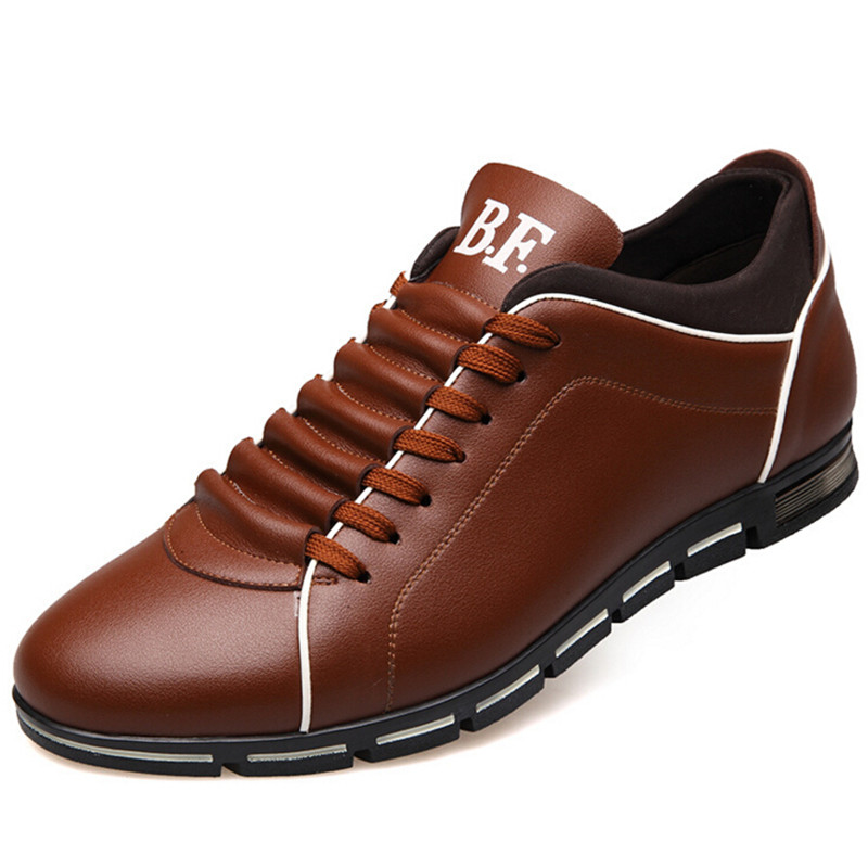 Men's Business Shoes High Increased Fashion Shoes Men Soft Leather Comfortable Natural Health Casual Shoes