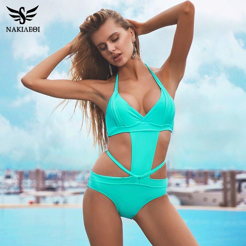 Sport & Unterhaltung Nakiaeoi 2019 Neue Ein Stück Badeanzug Frauen Bademode Sexy Bandage Badeanzug Backless Cut Out Monokini Body Strand Tragen Schwimmen Schwimmen