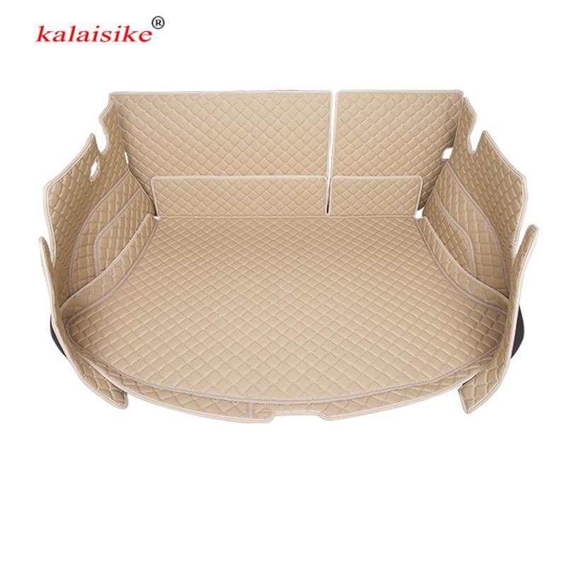 kalaisike Custom car trunk mat for Audi all models A3 A7 SQ5 A8 Q5 Q3 Q7 A5 car styling auto accessories custom cargo liner