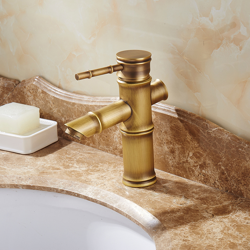 Antique Bamboo Bathroom Faucet Single Handle Bamboo Water Tap Antique bronze finish Brass Basin Sink Faucet Basin FaucetAntique Bamboo Bathroom Faucet Single Handle Bamboo Water Tap Antique bronze finish Brass Basin Sink Faucet Basin Faucet