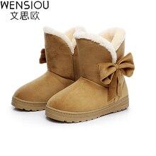 2016 mujeres de invierno Nuevo estilo zapatos de las mujeres suaves cómodas calzado botas botas de nieve caliente de alta calidad femenina femme SAT905