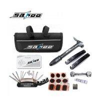 SAHOO Bike Bicycle Cycling Multifunctional Repair Tool Sets Kits & Mini Pump Bag Bike Puncture Tire Tyre 21040