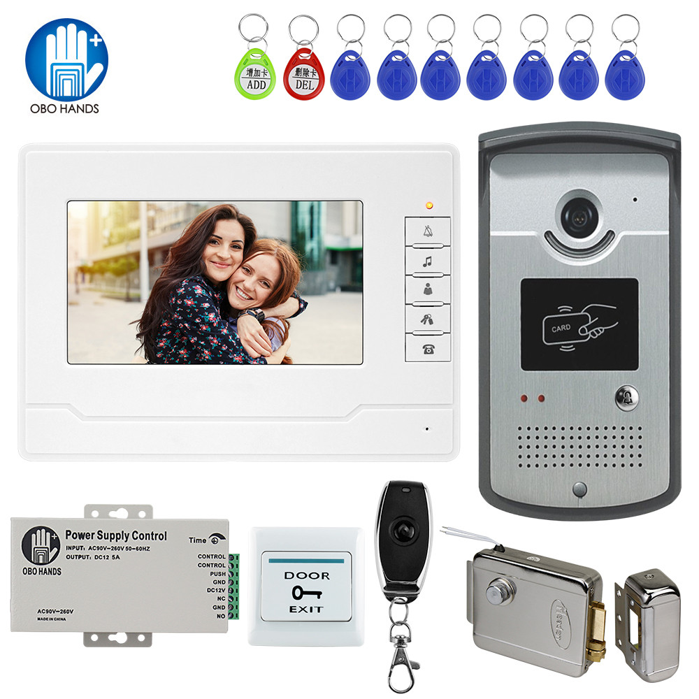 Gate-System-Kit Access-Camera Video-Intercom Video-Door-Phone Electric-Control-Lock Waterproof