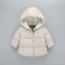 autumn winter Baby girl clothing cotton jacket outerwear infant baby girl outfits clothes casual sports hooded jackets coat DR05