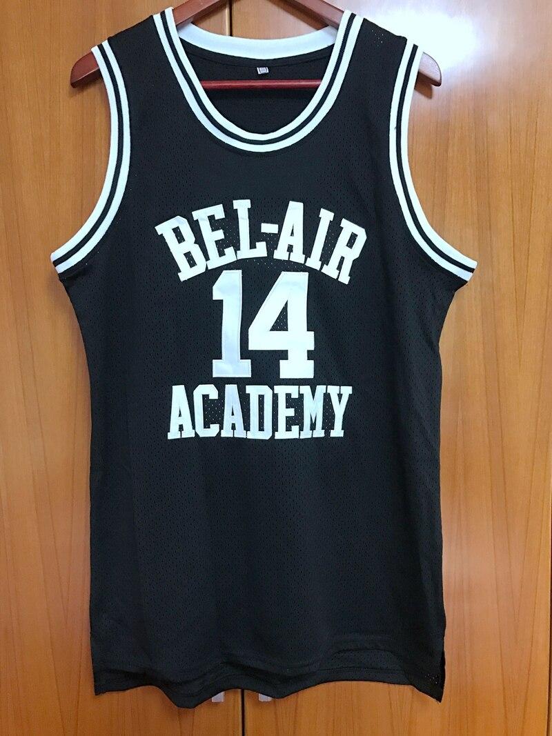 Prix pour Will Smith #14 Le Prince De Bel-Air de Basket-Ball Jersey Tous piqué noir