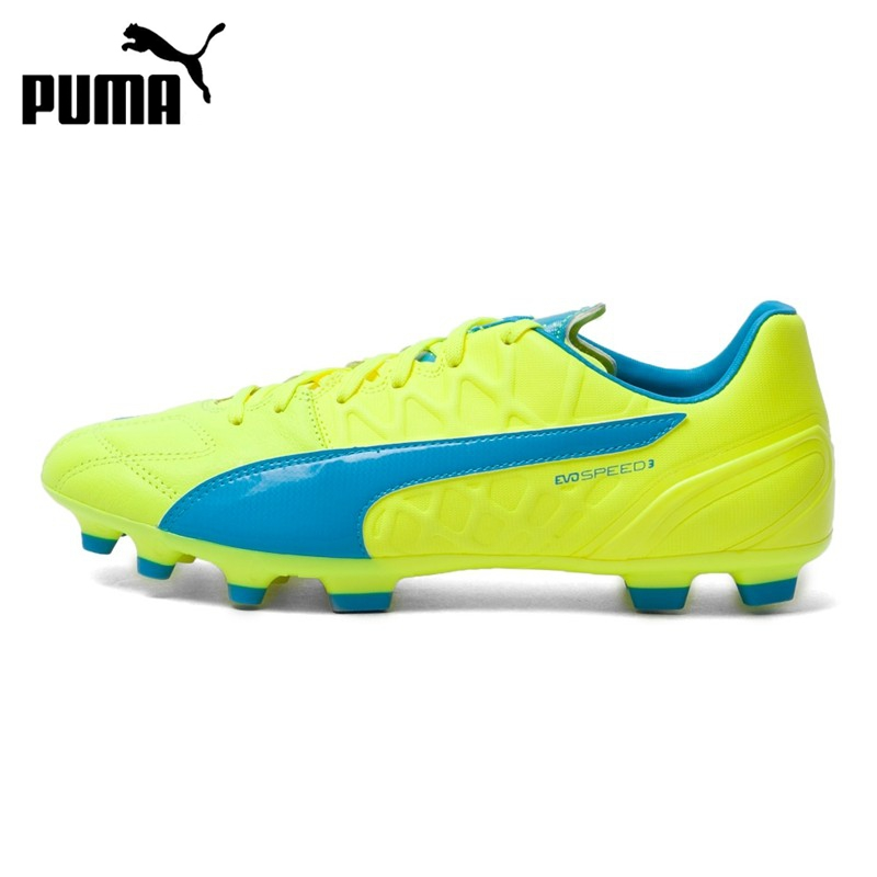 Original Puma evo SPEED 3.4 Lth AG Mens Soccer Shoes Football Sneakers