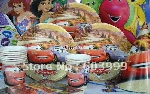 30% off Cars 2 Party Tableware Pack for 8,, Kids Party Decorations and Accessories, kids birthday party favors