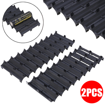 цена на 2pcs/set Professional 10x Cell Spacer 18650 Battery Cell Spacer Radiating Shell Pack Plastic Heat Holder Black New