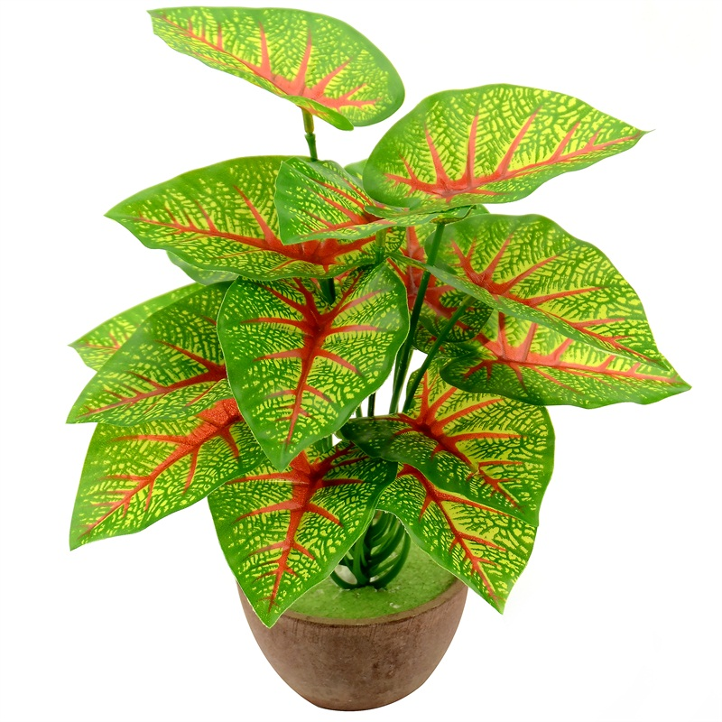 1 Bouquet/18 Leaves Artificial Silk Tropical Leaves For Hawaii Luau Party Decorations Fske Bonsai Tree Plant Branch Accessories