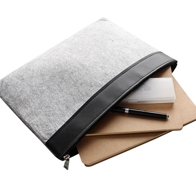 Soft A4 Document Case , File Paper Magzine Book  Zipper Briefcase Bag