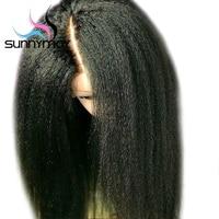 Алиса 13x6 Синтетические волосы на кружеве человеческих волос парики с ребенком волос Реми странный прямо парики предварительно сорвал браз