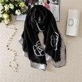 Nuevas Mujeres Bufandas y Chal Playa Dama de La Moda Bufanda Echarpe de Seda de Lujo Del Abrigo de Más Tamaño SC28