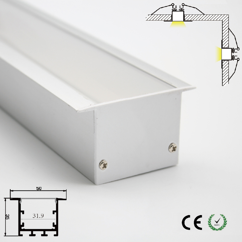 Modern Indoor Decoration Led Lighting Accessory Kitchen Lamp Cabinet Lamp Opal Lamp Cover Led Aluminum Channel