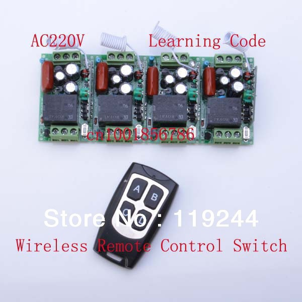 4 Receivers(Mini size)+Transmitter(Waterproof) RF 220V 1CH 10A Wireless Remote Control Power Switch System For Home Smart 2 receivers 60 buzzers wireless restaurant buzzer caller table call calling button waiter pager system