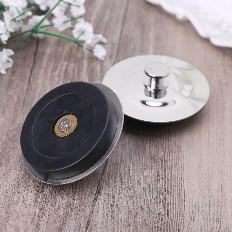 Universal Stainless Steel Floor Drain Plug Kitchen Bath Tub Sink Water Stopper