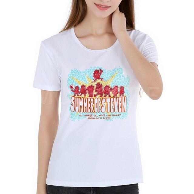 f8f48e1bf Mulheres Camisetas STEVEN UNIVERSO ESTRELA BISCOITO GATO Camiseta de Manga  Curta TEE impressão Tshirt Anime Moive