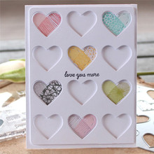 DiyArts 1 Pcs/lot Metal Cutting Dies Scrapbooking For Card Making DIY Embossing Cuts New Craft Heart-shaped Hollow Cover