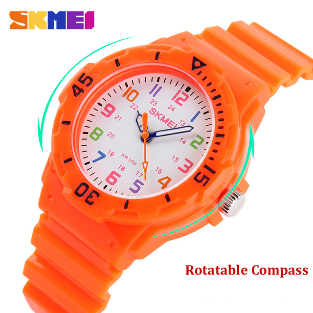 Skmei Watch Fashion Casual Watches Quartz Wristwatches Waterproof Jelly Kids Clo