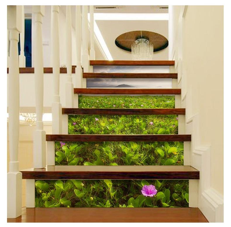 Домашние лестницы декорации самоклеющиеся наклейки, близко к природе, пункт № XH-DLT