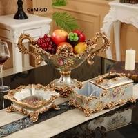European decor set fruit plate luxury American modern household living room table decoration