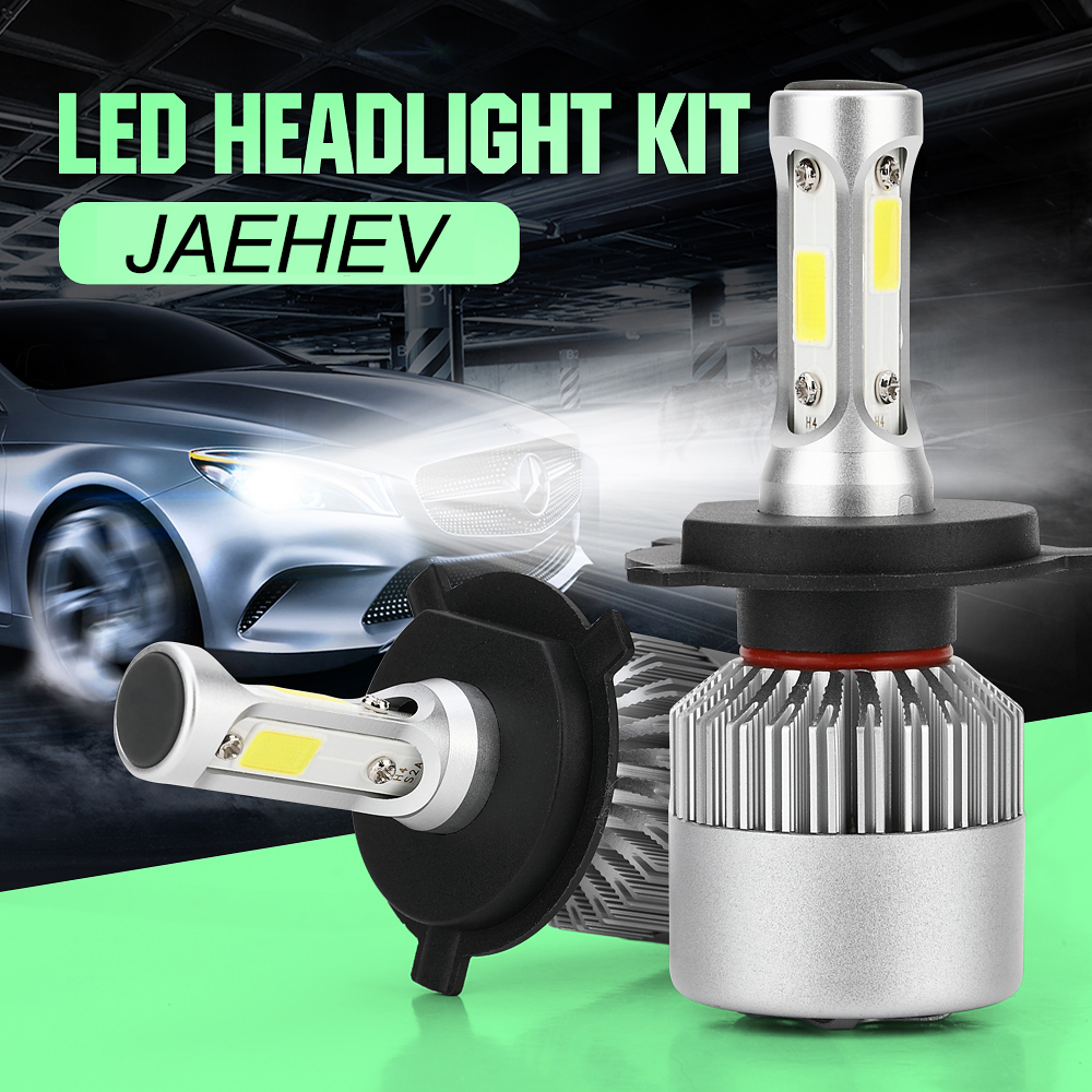 JAEHEV S2 Auto LED Fari Lampadine 80 w 6000 k H1 H3 H4 H7 H13 H8 H9 Auto Del Faro 880 9004 9005 9006 9007 Luci Auto Della Lampada Della Nebbia