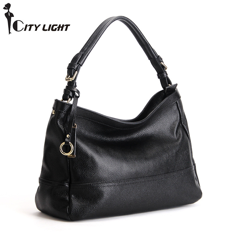 Luxury SOFT Genuine Leather Women HOBO Bag Leather Shoulder bag Work bussiness ladies Handbag Bucket Bag Chain Purse Elegant 2017 120cm diy metal purse chain strap handle bag accessories shoulder crossbody bag handbag replacement fashion long chains new