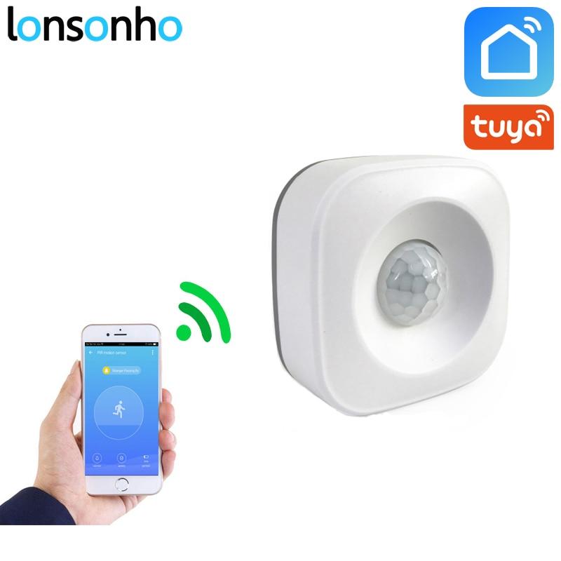 Lonsonho Wi-fi Inteligente Alarme Sensor De Movimento Pir Detector de Movimento Infravermelho Trabalho Com Vida Inteligente de IFTTT Tuya Smart App