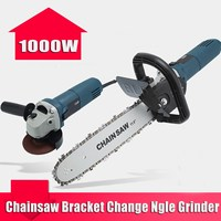 1000W 220V 11000rpm 6 Speed Adjustable Electric 100 Angle Grinder Chainsaw Woodworking Cutting Chainsaw Bracket Change