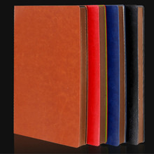A5 A6 B5 custom printed Diary PU Leather Notepad Office Business Affairs Small Notebook