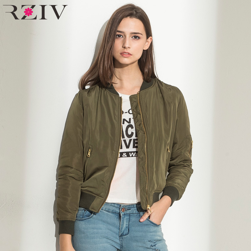 RZIV Spring Flight army green bomber jacket women jacket and women's coat clothes bomber ladies
