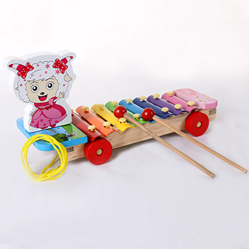 Wooden Octave Piano Learning Education Montessori Toys 8 Notes Musical Teaching Xylophone Percussion Instrument Baby Baby Gifts
